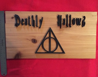 Harry Potter inspired Deathly Hallows Wall Decor