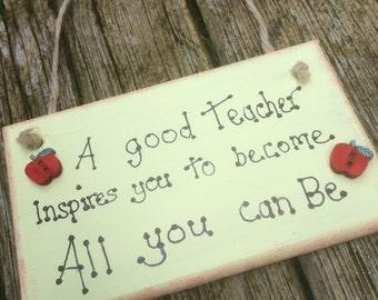 Handmade plaque for Teacher