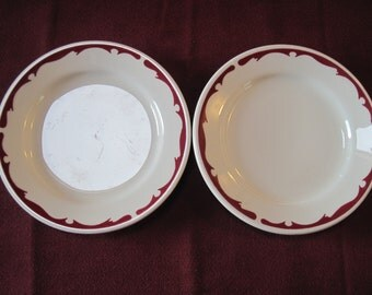 2 Restaurant Ware Bread and Butter Plates-Buffalo China - Item #1160