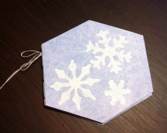 Snowflake Journal, Child's Journal, Art Journal, Blue Journal, Notebook, Nature Journal, Snowflake Collection, Snowflake Templates