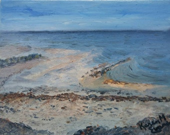 Cape Cod Beach Oil Painting