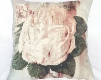 Rusty Rose Linen Cushion