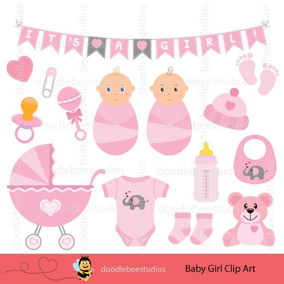 Baby Girl Clip Art Set Baby Things Clip Art Baby Girl