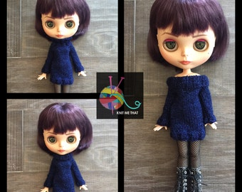 FREE SHIPPING! - Navy Blue Blythe Sweater Dress