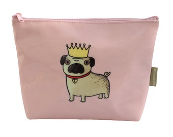 Pug dog make-up bag