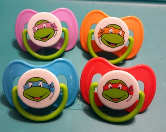 Ninja turtles** modified pacifier for reborn baby dolls