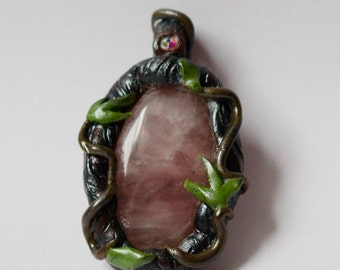 Forest Fairy ~ Rose Quartz Pendant