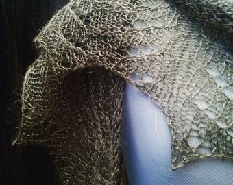 Starlight Lace Shawl, Linen SHIPS FREE