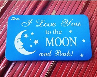Personalized Wallet Card, Engraved Wallet Insert, Custom Wallet Card, Valentines Day Gift, Anniversary Gift, Love Note