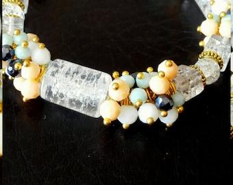 Handmade bracelet from natural stones