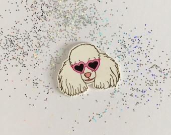 Poodle Pin [brooch lapel pin sunglasses dog]