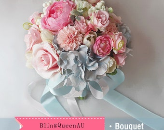 Wedding Bouquet Bridal Bridesmaid Aartificial Flower Roses Posy Handmade Home Decor