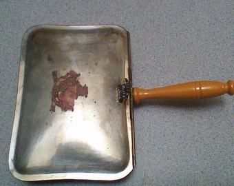 Antique Silver Plated Warming Pan with Handle