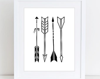 Scandinavian arrows print, Kids print, Nursery decor, Kids room, Printable Wall Art, Childrens print, Digital print, Instant Download 8x10