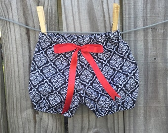 Black and red Bloomers/Bubble shorts.. Girls/infants/Toddler