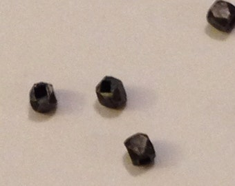 Oxidized Sterling Silver Faceted Nugget Spacer Beads. 129