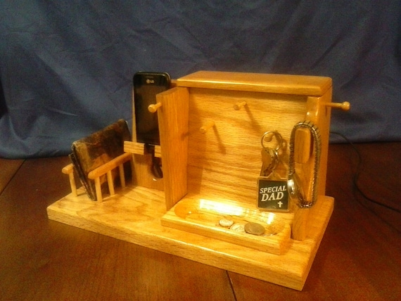 Cell Phone Docking Station Table Top Organizer Secret