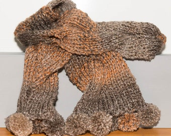 Plaited scarf - brown