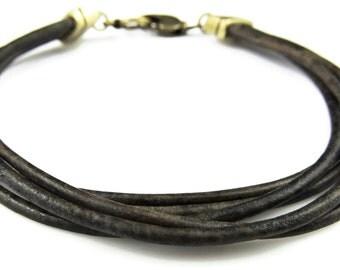 3 leather strap bracelet
