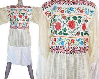 long embroidered tunic top dress