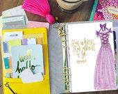 Rapunzel Planner Dashboards - laminated on 5mil by Stylish Planner - Disney Planner Dashboards, Tangled Dashboard