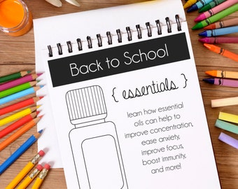 Printable Back to School Essential Oil Class Postcard Invitation