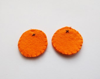 Felt Orange Earrings