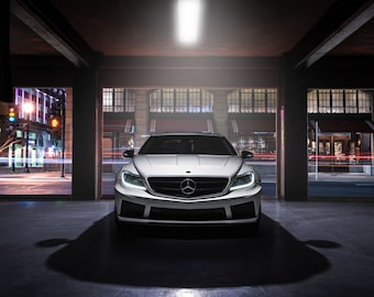Mercedes CL63 AMG Wide Body Front View | automotive photography | automotive prints | car photography | car prints | european car | 7 sizes