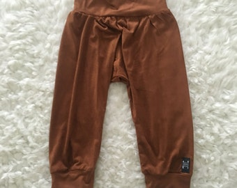 Rusty Faux Suede Slouch Pants