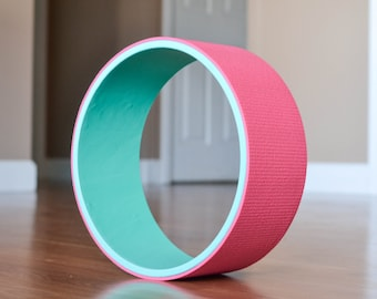 "12"" Yoga Wheel-Teal&Pink"