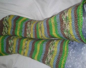 Hand knit Socks. Wool socks.