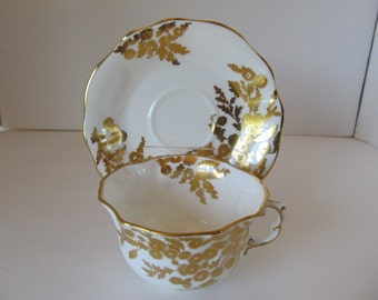 GOLDEN TANSY Hammersley English China Cup & Saucer set
