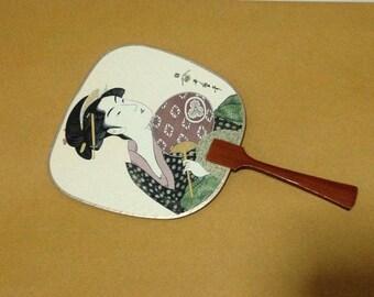 Antique Japanese Fan Japanese Paper Fan Japanese Hand Fan Vintage Japanese Fan