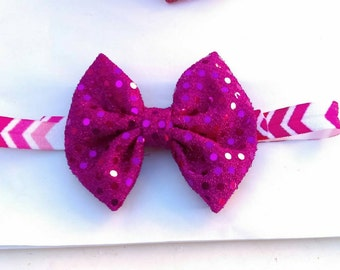 Sparkle bow on headband