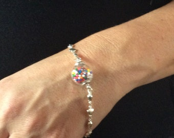 Love with vial of candy bracelet
