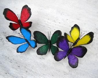 Bridesmaid set Bridesmaid hair pins set Butterfly hair accessory Butterfly hair pin Woodland hair piece Nature wedding pin Butterfly jewelry