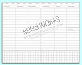 Week on Two Vertical Field notes sized PRINTABLE instant download