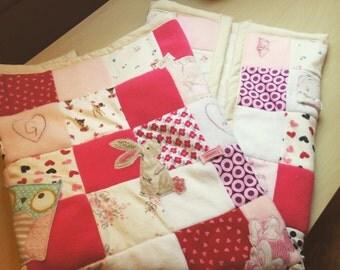 Upcycled baby memories blanket