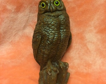 """Vintage 10"""" owl candle"""