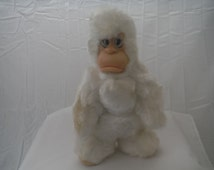 Bigfoot by Rushton plush 1960's vintage with rubber face-rare-collectible