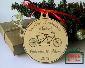 first married christmas ornament  christmas ornament  our