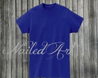 Blank Blue T-Shirt Mockup Front and Back , Graphic Artwork Mockup,Business Tool Mockup