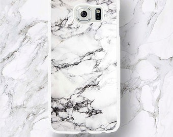 White Marble Pattern Samsung Galaxy S8 Plus Cases, S7 Edge Elegant marble Stone Print s6 Edge Plus Case, S7 Active s5 mini Phone Covers