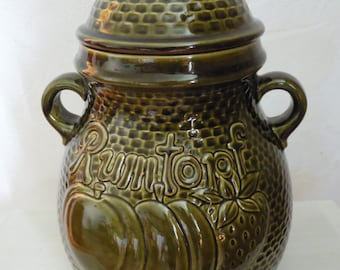 "Large pot ""RUMTOPF"", Scheurich keramik West Germany 1970."