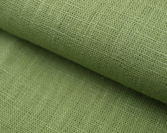 Green - Pale Green Linen Fabric