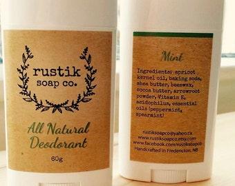 All Natural Deodorant (3 scents)