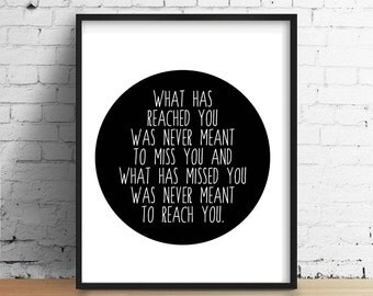 Quote, Art Print, Instant Download, Black and White, Wall Decor, The Prophet, Muhammad, Digital