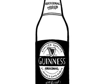 Guinness Original Stout bottle - Hand-drawn illustration print