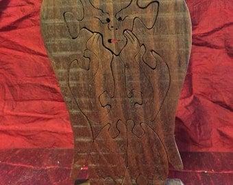 Black Walnut Gargoyle scrollsaw puzzle