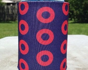 Fishman Donuts Can Cooler, Phish Beverage Cooler, Phish Can Coolie